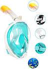 Набор для плавания 2 в 1 (маска FREE BREATH M2068G + ласты) Бирюзовая маска (размер S/M); Ласты (размер L), фото 3