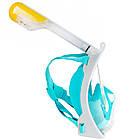 Набор для плавания 2 в 1 (маска FREE BREATH M2068G + ласты) Бирюзовая маска (размер S/M); Ласты (размер L), фото 5