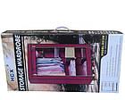 Тканевый складной шкаф HCX «88105 blue» 105х45х170 см Синий, фото 5