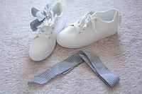Женские кроссовки кожа Italy белые 36-37 LV хит