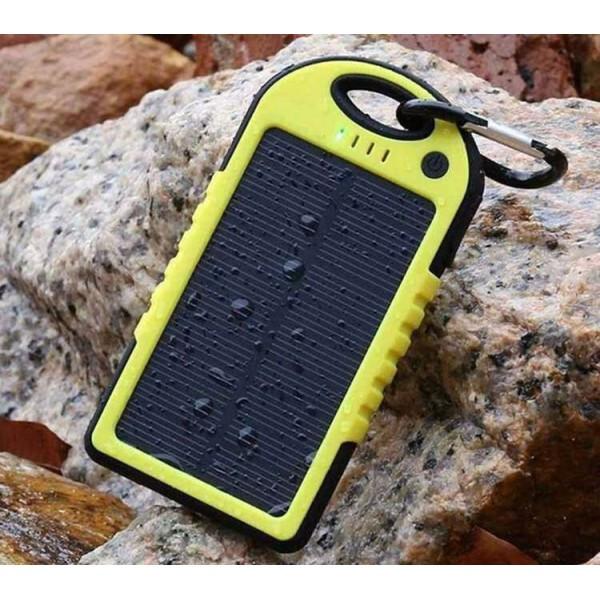 Зарядка на солнечной батарее Power Bank Solar Charger 10000 mAh (модель с ручкой для переноски), yellow - 1921-00037365