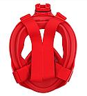 Набор для плавания 2 в 1 (маска FREE BREATH SJLH-02 + ласты) Красная маска (размер S/M) Ласты синие (размер L), фото 3