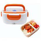 Электрический ланч-бокс с подогревом Electronic Lunchbox Оранжевый (nri-2238), фото 2
