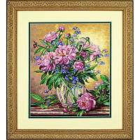 Набор для вышивания Dimensions 35211 Peonies and Canterbury Bells Cross Stitch Kit, фото 1