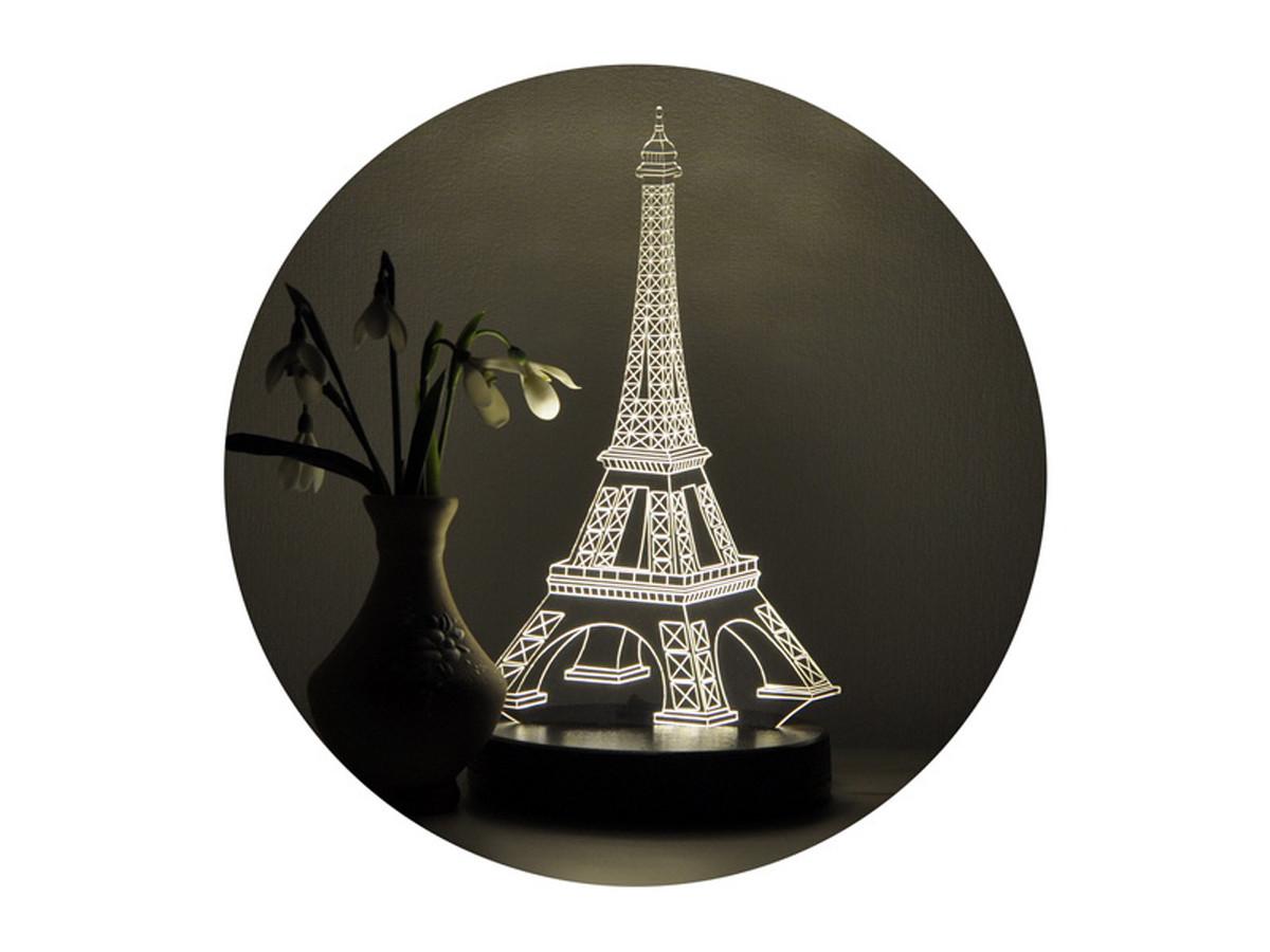 "3D светильник ночник ""Эйфелева башня"" WOODPRESENT dark wood"