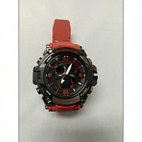 Кварцевые спортивные Наручные Часы G-Shock 2 protection Чёрные с красным ремешком