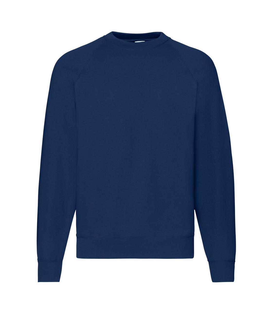 Мужской свитер-реглан утепленный темно-синий 216-32