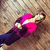 Трехцветный женский кардиган, фото 2