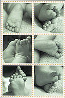 Постер Детские ножки (kids feets), 40.6х50.8 см
