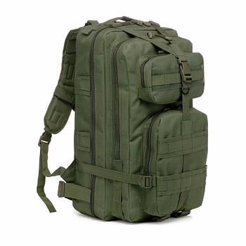 Тактический военный рюкзак 25л темно-зеленый