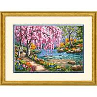 Набор для вышивания Dimensions 70-35374 Cherry Blossom Creek Cross Stitch Kit