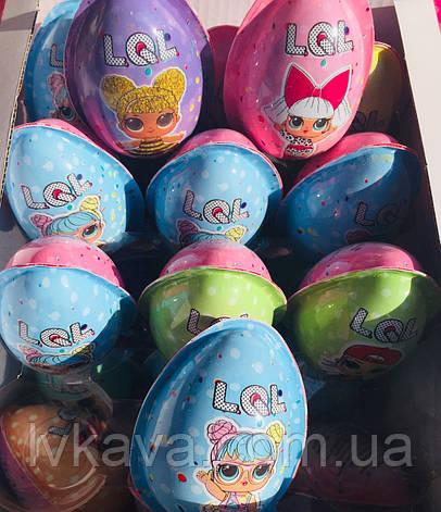 Яйцо-игрушка L.O.L.  Eggs c печеньем в глазури, 15 g X 24 шт, фото 2