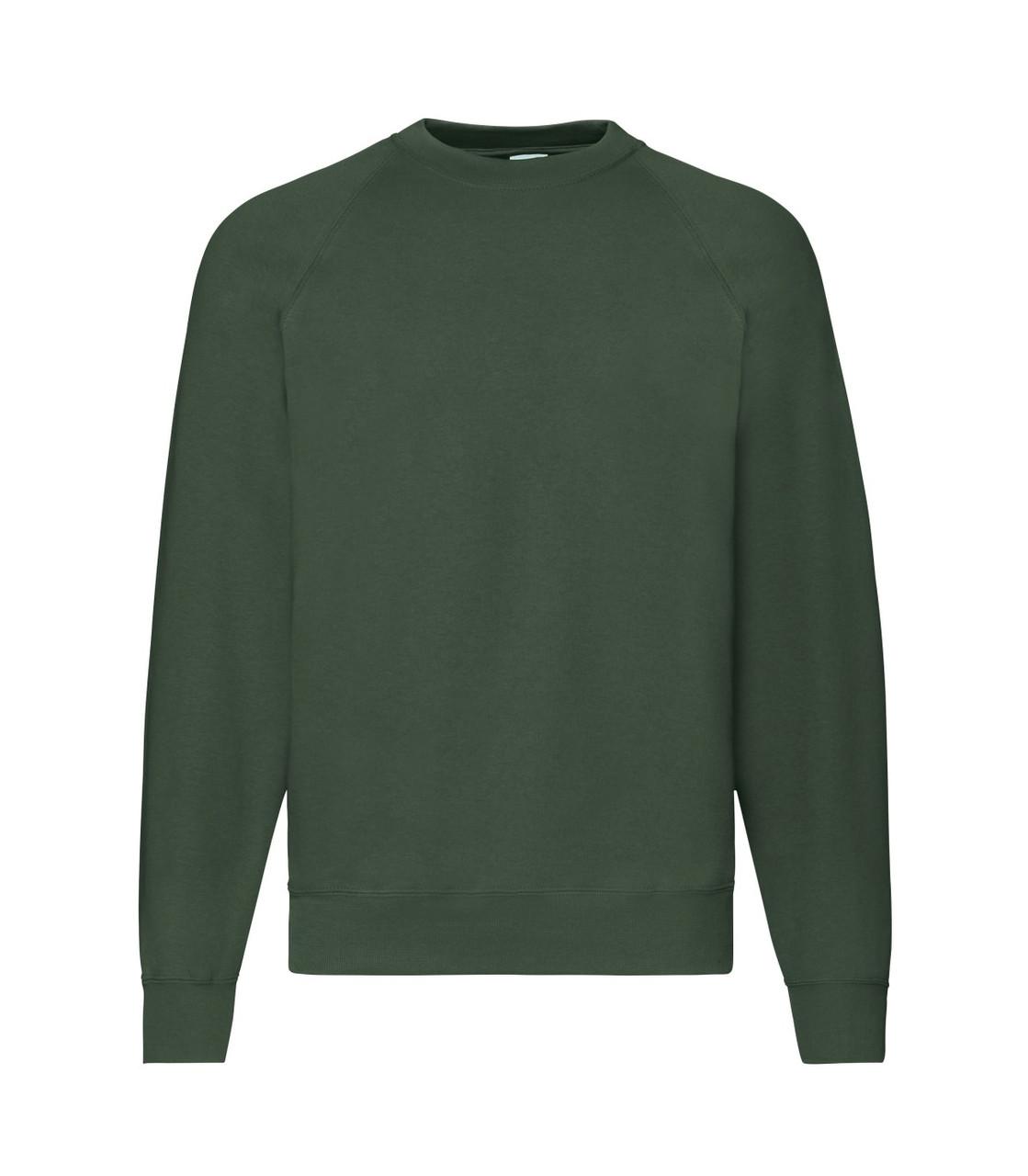 Мужской свитер-реглан утепленный темно-зеленый 216-38