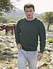 Мужской свитер-реглан утепленный темно-зеленый 216-38, фото 4