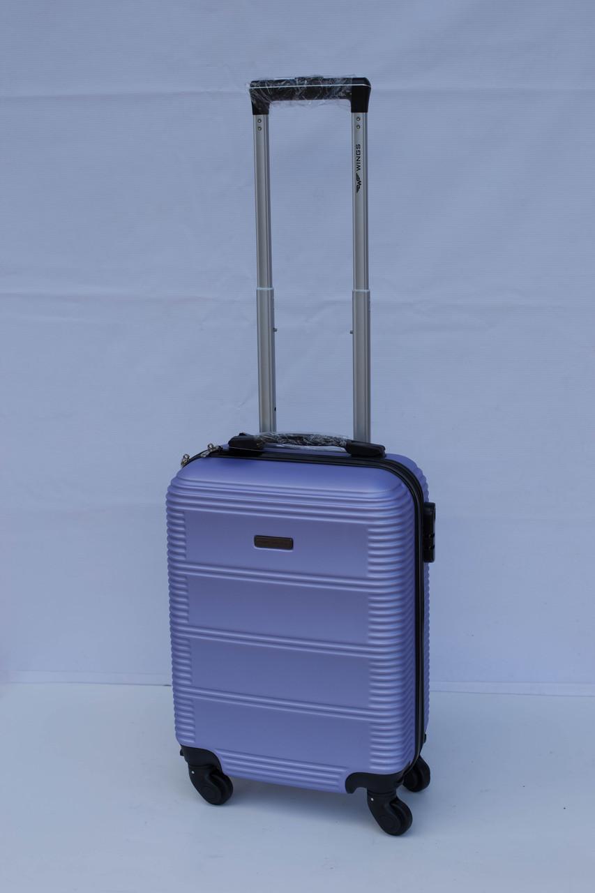 Міні пластиковий чемодан Wings 203 на 4 колесах