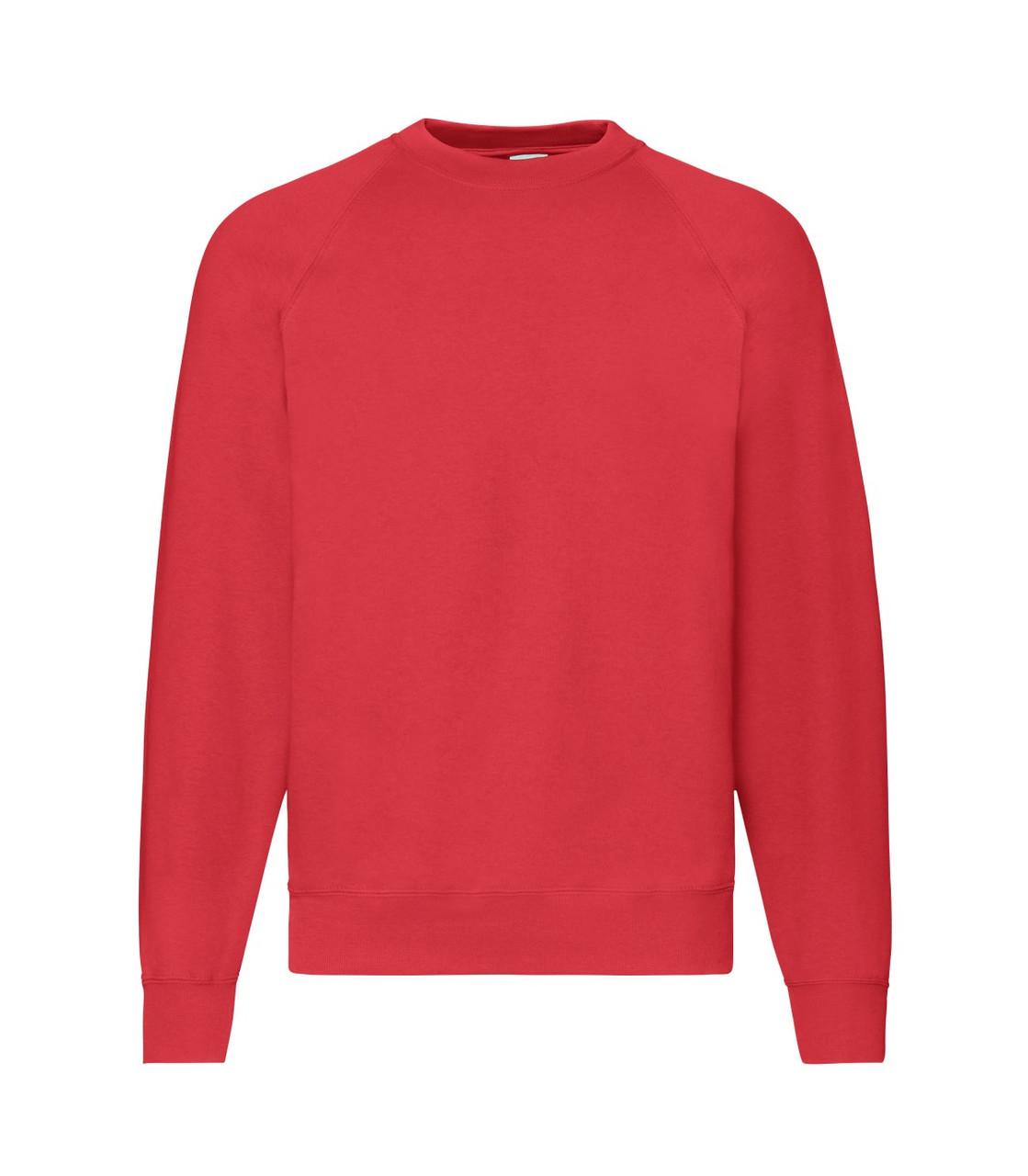Мужской свитер-реглан утепленный красный 216-40