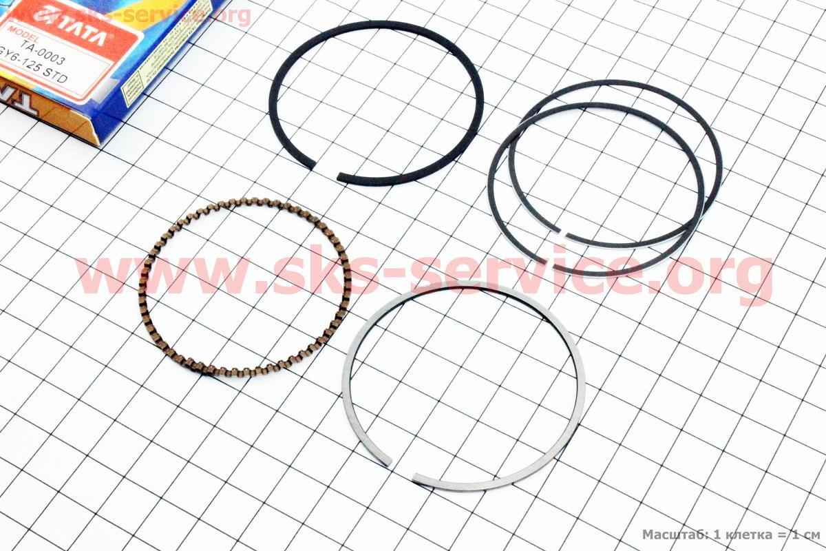 Кольца поршневые 125cc 52,4мм STD