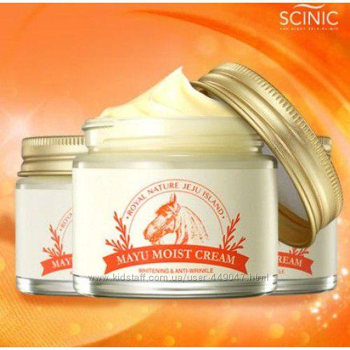 Восстанавливающий увлажняющий крем для лица с лошадиным жиром SCINIC Mayu Moist Cream 70мл