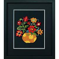 Набор для вышивания Dimensions 73222 Floral on Black Punch Needle Embroidery Kit