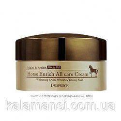 Питательный крем для лица с лошадиным жиром Deoproce, Horse Enrich All Care Cream, 100 г