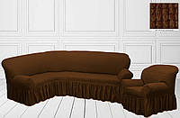 Чехол на угловой диван + кресло
