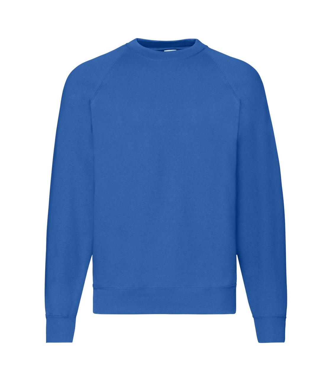 Мужской свитер-реглан утепленный синий 216-51