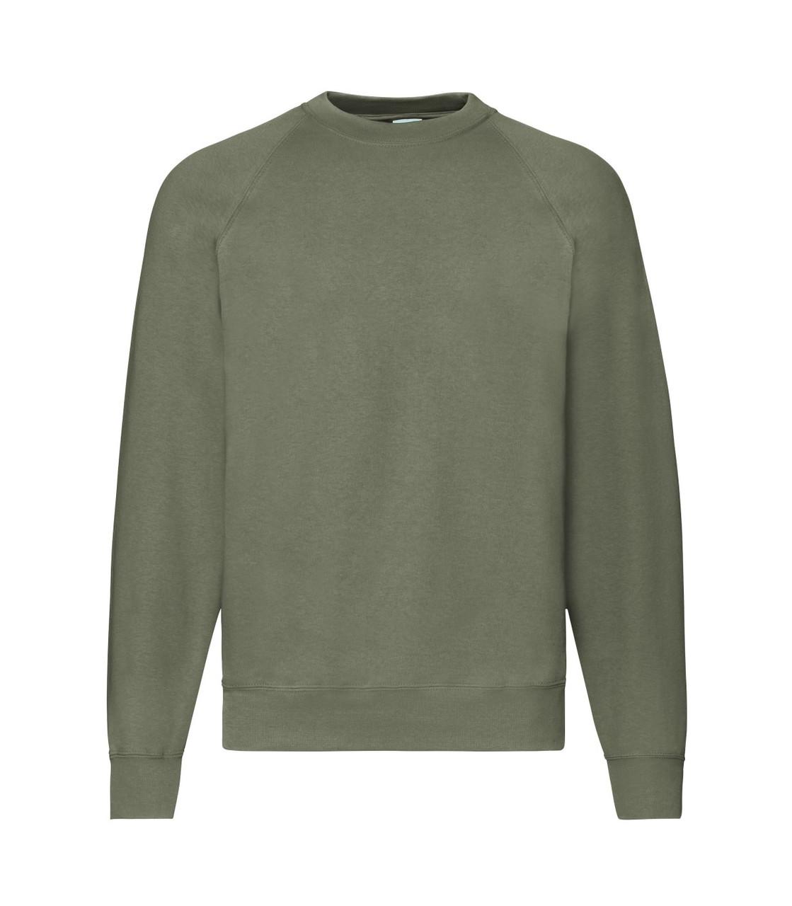 Мужской свитер-реглан утепленный оливковый 216-59