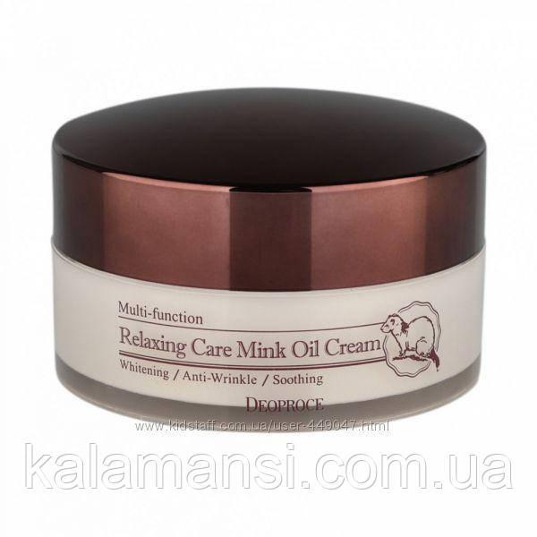 Крем розслабляючий з жиром норки Deoproce, Relaxing Care Mink Oil Cream, 100 гр