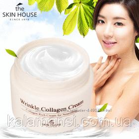 Антивозрастной питательный крем с морским коллагеном The Skin House Wrinkle Collagen Cream, 50 мл