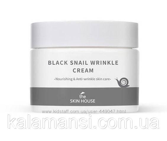 Живильний крем проти зморшок з муцином чорної равлики The Skin Black House Snail Wrinkle Cream, 50 мл