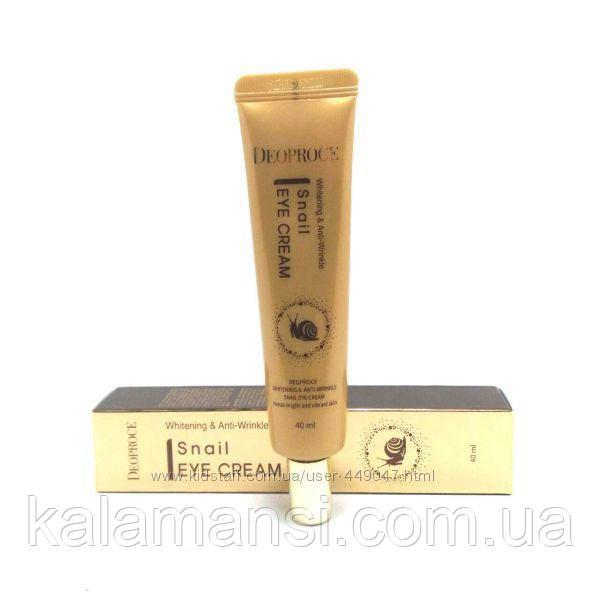 Антивозрастной улиточный крем для век DEOPROCE Whitening & Anti-Wrinkle Snail Eye Cream, 40 мл