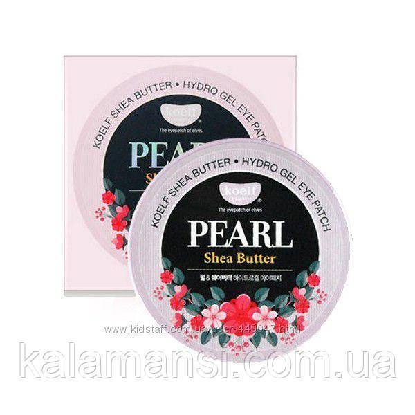Гидрогелевые патчи с жемчужной пудрой и маслом Ши Koelf Pearl Shea Butter Eye Patch 60 шт