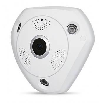 3D панорамная IP камера видеонаблюдения Hiseeu XPX 360 градусов WI-FI