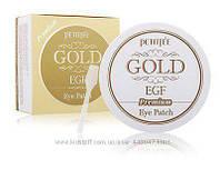 Гидрогелевые патчи c EGF и Золотом Petitfee Premium Gold EGF Eye Patch