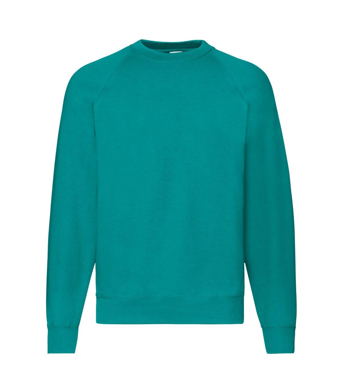 Мужской свитер-реглан утепленный изумрудный 216-77