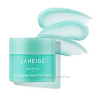 Інтенсивно відновлююча маска для губ з ароматом м'яти шоколаду Laneige Lip Mask Choco Mint, 20 гр