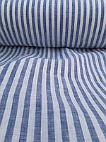 Легкая льняная полосатая ткань, фото 1
