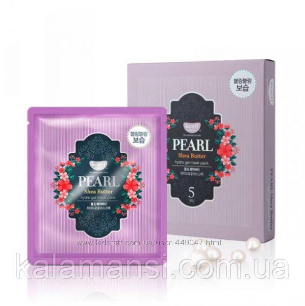 Гидрогель маска для лица с жемчугом и маслом Ши KOELF, Pearl and Shea Butter Hydro Gel Mask