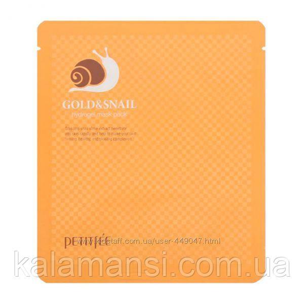 Гидрогелевая маска с золотом и улиткой Petitfee Gold Snail Hydrogel Mask Pack