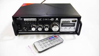 Усилитель звука Mega Sound AV-306B USB+SD+AUX+Bluetooth+Karaoke Черный (637364597)
