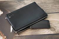Барсетка - портмоне Montblancиз натуральной кожи / Кожаная барсетка Монблан, фото 1