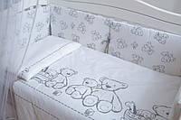 Сменная постель Twins Eco Line New E-025 Teddy white/grey 3 эл