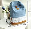 Молодежный джинсовый рюкзак с кружевом, фото 2