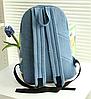 Молодежный джинсовый рюкзак с кружевом, фото 4