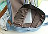 Молодежный джинсовый рюкзак с кружевом, фото 5