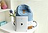 Молодежный джинсовый рюкзак с кружевом, фото 6