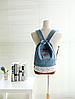 Молодежный джинсовый рюкзак с кружевом, фото 7
