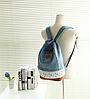 Молодежный джинсовый рюкзак с кружевом, фото 8