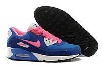 Женские кроссовки Nike Air Max 90 darkblue-pink, фото 1
