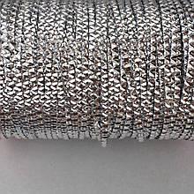 Бить фактурная 2 мм. Цвет: Серебро. 1 м.